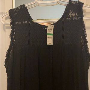 Style & Co Fringe-trim high-low dress size L